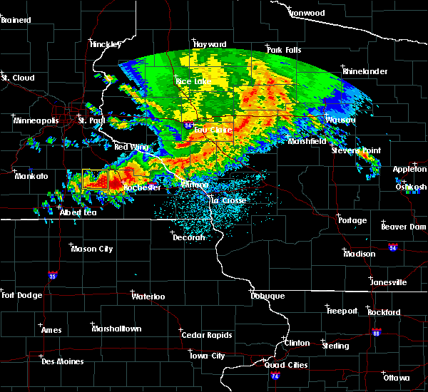 Radar Image for Severe Thunderstorms near Lublin, WI at 9/3/2019 12:22 AM CDT
