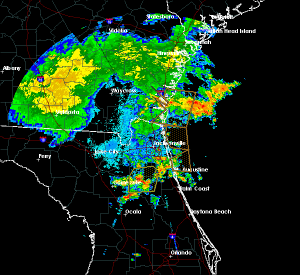 Radar Image for Severe Thunderstorms near Keystone Heights, FL at 6/22/2015 11:10 PM EDT