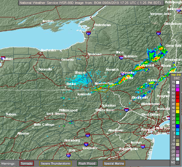 Radar Image for Severe Thunderstorms near Oakland, PA at 9/4/2019 1:29 PM EDT