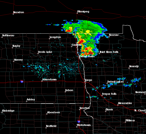 Radar Image for Severe Thunderstorms near Thief River Falls, MN at 9/5/2019 2:40 AM CDT