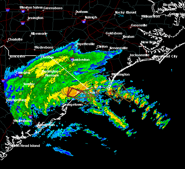 Radar Image for Severe Thunderstorms near Myrtle Beach, SC at 9/5/2019 4:26 AM EDT