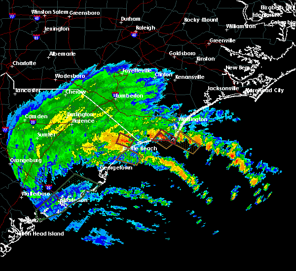 Radar Image for Severe Thunderstorms near North Myrtle Beach, SC at 9/5/2019 5:09 AM EDT