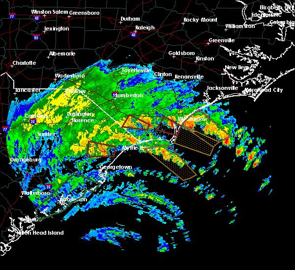 Radar Image for Severe Thunderstorms near Hallsboro, NC at 9/5/2019 6:07 AM EDT