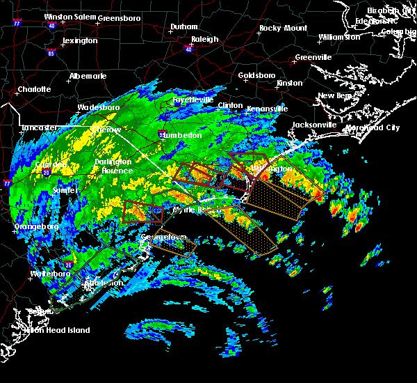 Radar Image for Severe Thunderstorms near Hallsboro, NC at 9/5/2019 6:15 AM EDT