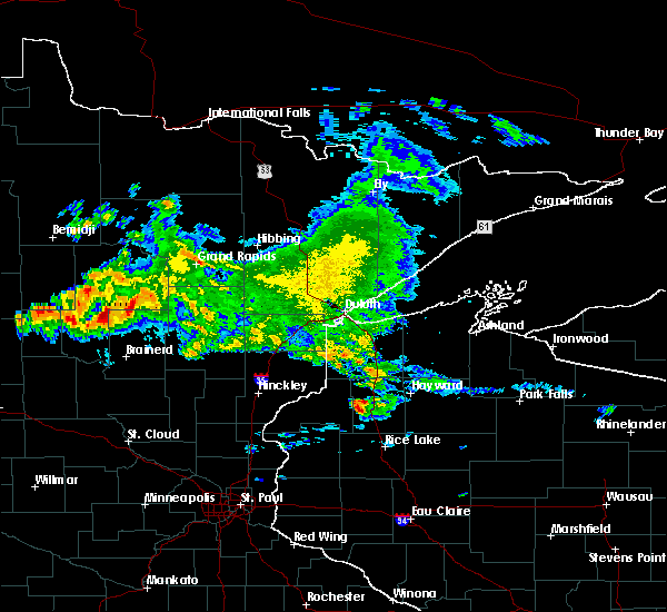 Radar Image for Severe Thunderstorms near Crosslake, MN at 9/5/2019 7:33 AM CDT