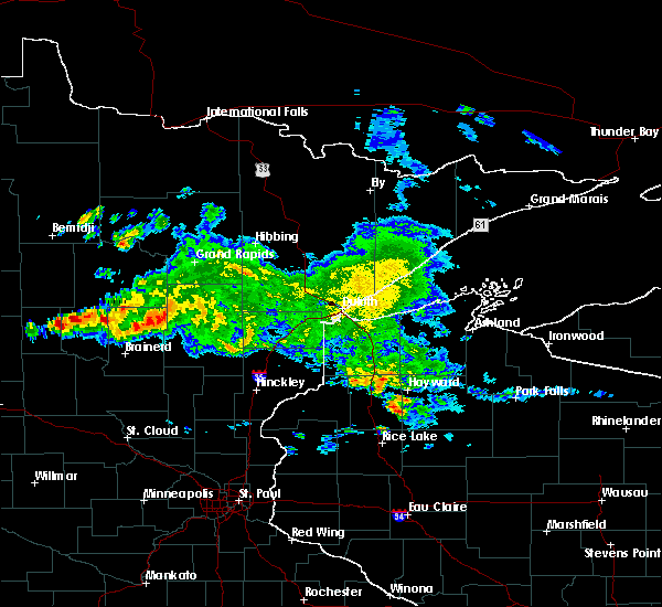 Radar Image for Severe Thunderstorms near Pequot Lakes, MN at 9/5/2019 7:51 AM CDT