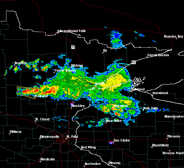 Radar Image for Severe Thunderstorms near Pequot Lakes, MN at 9/5/2019 8:08 AM CDT