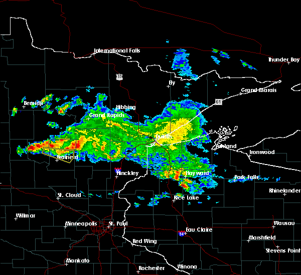 Radar Image for Severe Thunderstorms near Pequot Lakes, MN at 9/5/2019 8:16 AM CDT