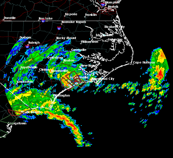 Radar Image for Severe Thunderstorms near Jacksonville, NC at 9/5/2019 9:30 AM EDT