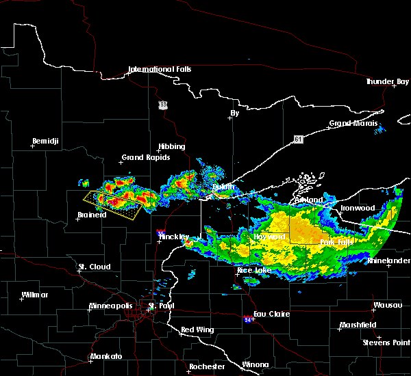 Radar Image for Severe Thunderstorms near Aitkin, MN at 9/5/2019 10:15 AM CDT