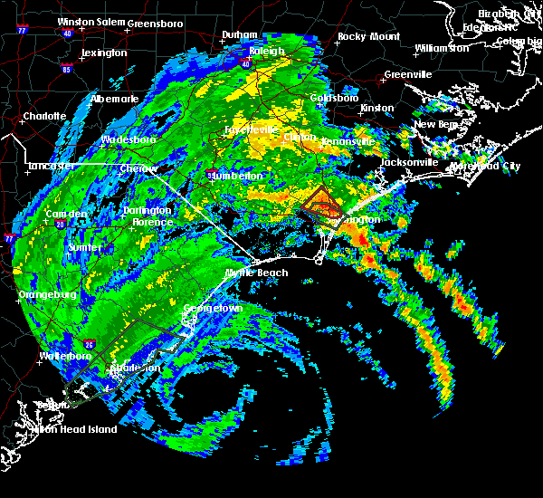 Radar Image for Severe Thunderstorms near Rocky Point, NC at 9/5/2019 12:16 PM EDT