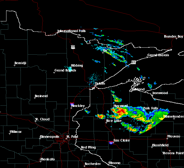 Radar Image for Severe Thunderstorms near Little Round Lake, WI at 9/5/2019 1:50 PM CDT