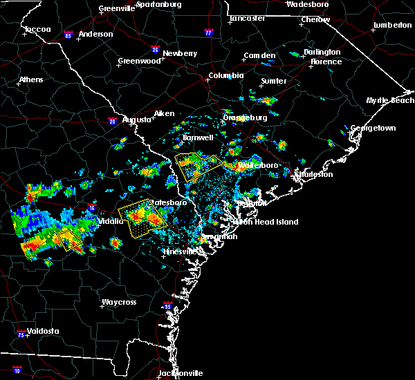 Radar Image for Severe Thunderstorms near Walterboro, SC at 9/9/2019 3:21 PM EDT