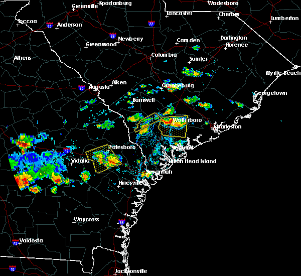 Radar Image for Severe Thunderstorms near Lodge, SC at 9/9/2019 3:33 PM EDT