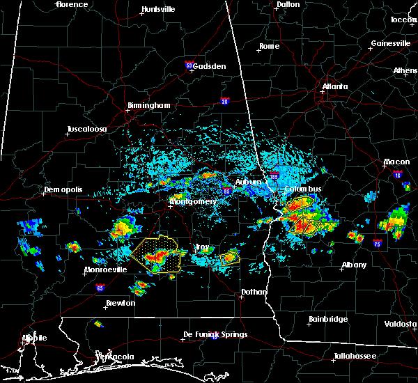 Radar Image for Severe Thunderstorms near Columbus, GA at 9/9/2019 3:41 PM EDT