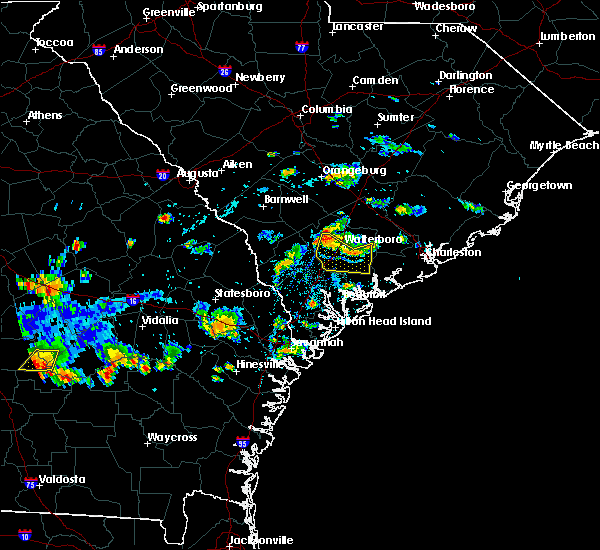 Radar Image for Severe Thunderstorms near Walterboro, SC at 9/9/2019 3:49 PM EDT