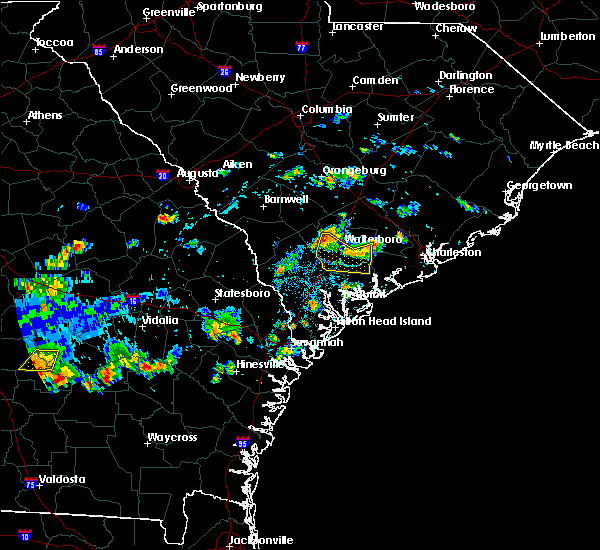Radar Image for Severe Thunderstorms near Walterboro, SC at 9/9/2019 4:02 PM EDT