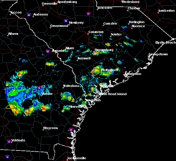 Radar Image for Severe Thunderstorms near Walterboro, SC at 9/9/2019 4:13 PM EDT