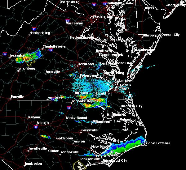 Radar Image for Severe Thunderstorms near Boykins, VA at 9/9/2019 5:27 PM EDT