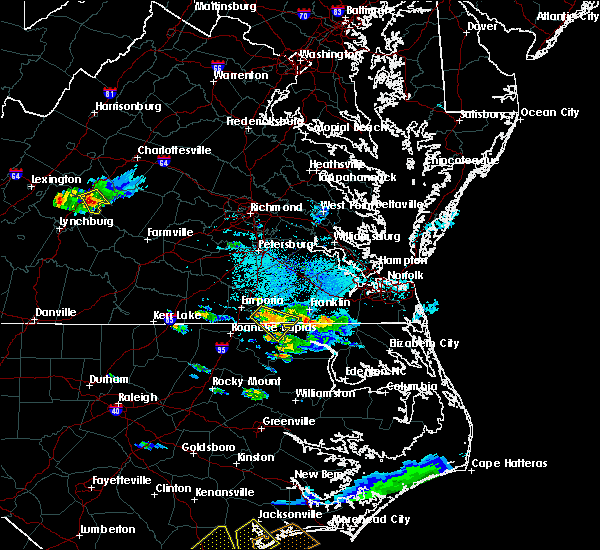 Radar Image for Severe Thunderstorms near Boykins, VA at 9/9/2019 5:46 PM EDT