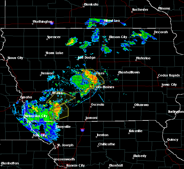 Radar Image for Severe Thunderstorms near Adair, IA at 9/9/2019 5:06 PM CDT