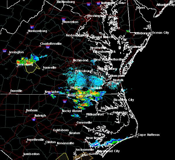 Radar Image for Severe Thunderstorms near Boykins, VA at 9/9/2019 6:08 PM EDT