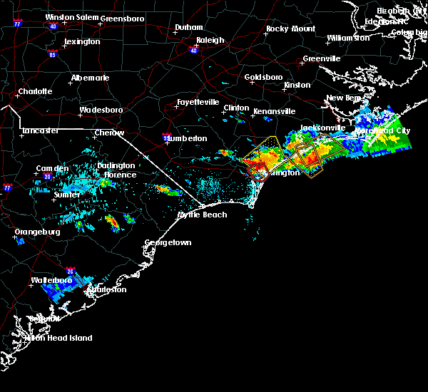 Radar Image for Severe Thunderstorms near Porters Neck, NC at 9/9/2019 6:14 PM EDT