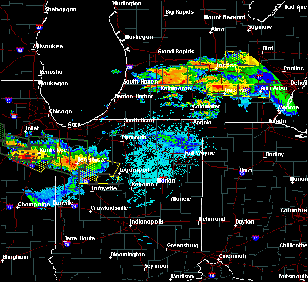 Radar Image for Severe Thunderstorms near Camden, IN at 6/23/2015 12:37 AM EDT