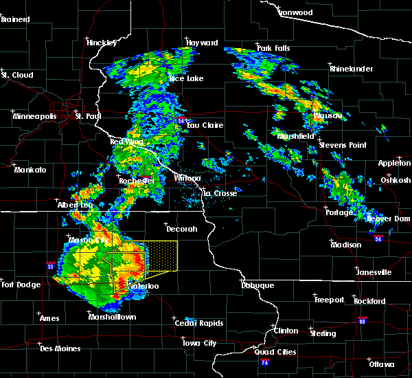 Radar Image for Severe Thunderstorms near Fairbank, IA at 9/9/2019 7:07 PM CDT