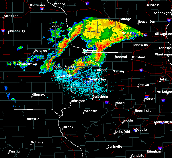 Radar Image for Severe Thunderstorms near Olin, IA at 9/10/2019 12:50 AM CDT