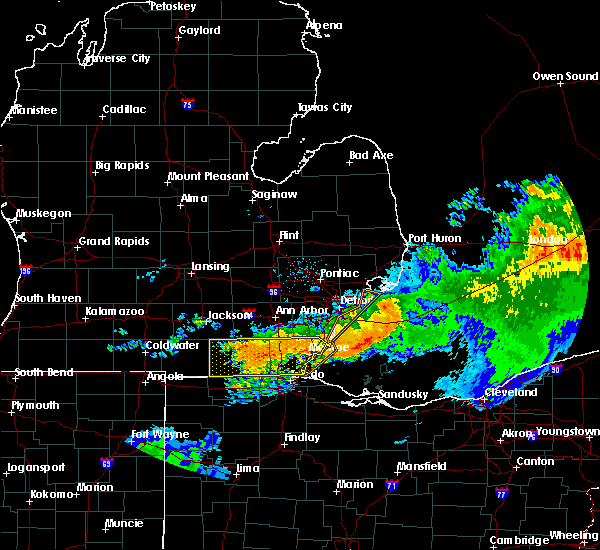Radar Image for Severe Thunderstorms near Toledo, OH at 6/23/2015 2:38 AM EDT