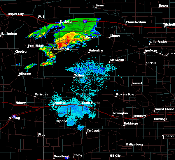 Radar Image for Severe Thunderstorms near St. Francis, SD at 9/10/2019 4:02 PM CDT
