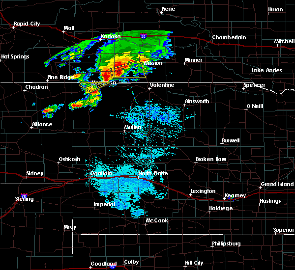 Radar Image for Severe Thunderstorms near St. Francis, SD at 9/10/2019 4:09 PM CDT