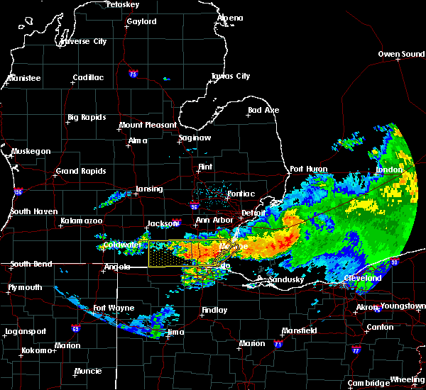 Radar Image for Severe Thunderstorms near Toledo, OH at 6/23/2015 2:54 AM EDT
