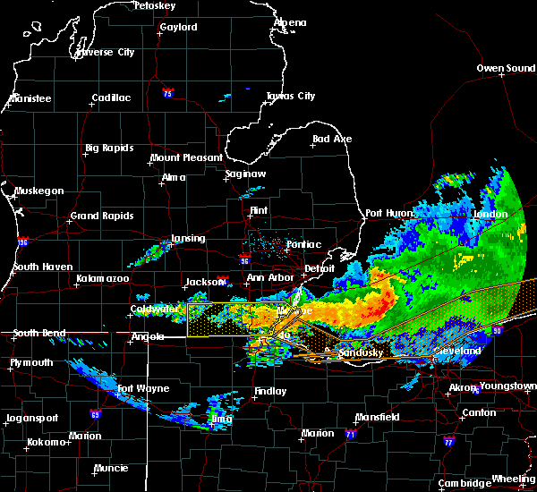 Radar Image for Severe Thunderstorms near Toledo, OH at 6/23/2015 3:03 AM EDT