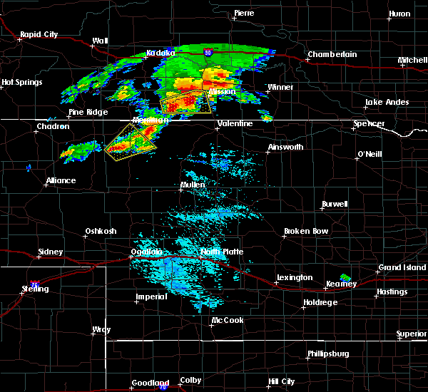 Radar Image for Severe Thunderstorms near Two Strike, SD at 9/10/2019 4:33 PM CDT