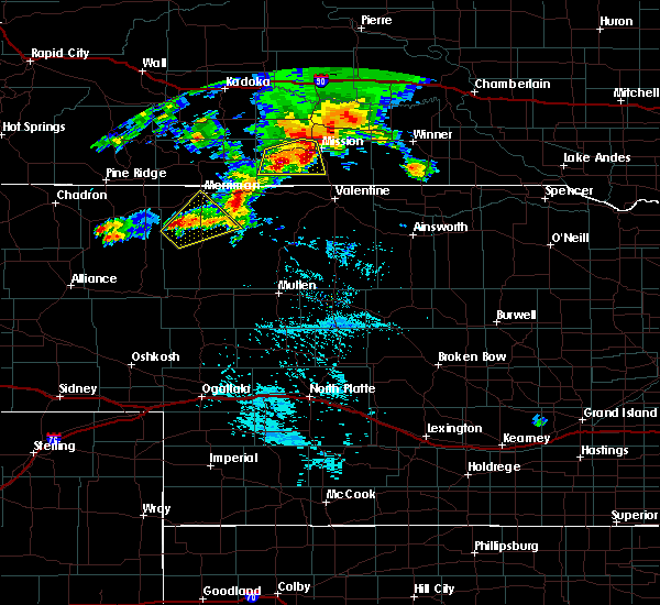 Radar Image for Severe Thunderstorms near Two Strike, SD at 9/10/2019 4:44 PM CDT