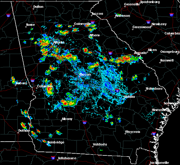 Radar Image for Severe Thunderstorms near Dearing, GA at 9/10/2019 6:22 PM EDT