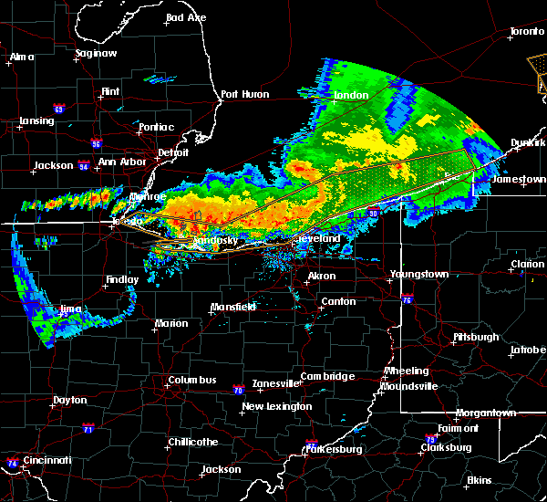 Radar Image for Severe Thunderstorms near Roaming Shores, OH at 6/23/2015 3:42 AM EDT