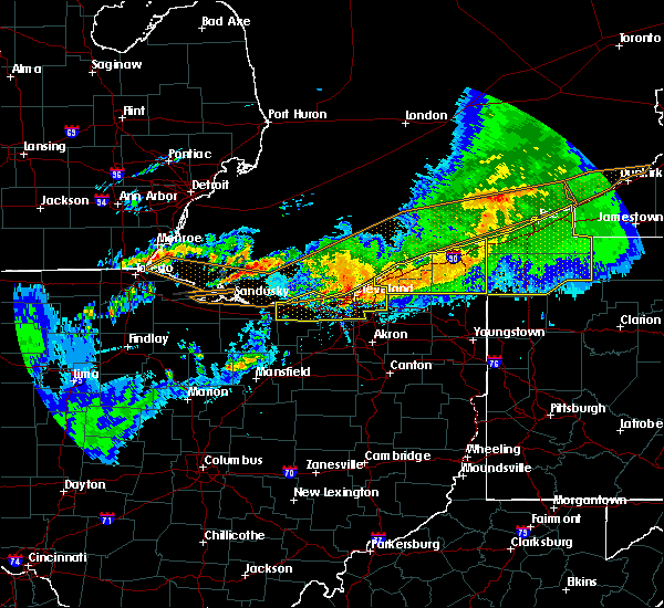Radar Image for Severe Thunderstorms near North Randall, OH at 6/23/2015 4:28 AM EDT