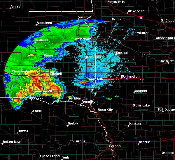 Radar Image for Severe Thunderstorms near Kaylor, SD at 9/10/2019 8:55 PM CDT