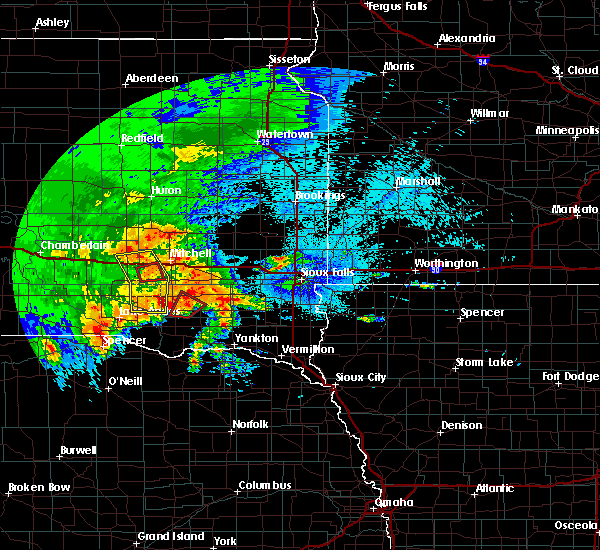 Radar Image for Severe Thunderstorms near Kaylor, SD at 9/10/2019 9:28 PM CDT