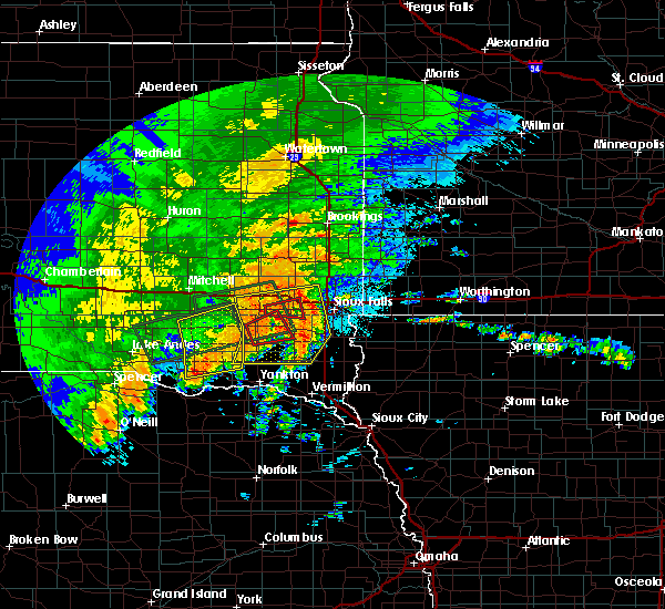 Radar Image for Severe Thunderstorms near Humboldt, SD at 9/10/2019 10:57 PM CDT