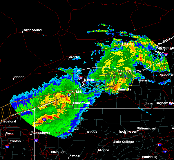 Radar Image for Severe Thunderstorms near Chautauqua, NY at 6/23/2015 5:14 AM EDT