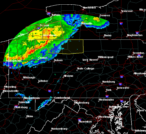 Radar Image for Severe Thunderstorms near Rew, PA at 6/23/2015 5:53 AM EDT