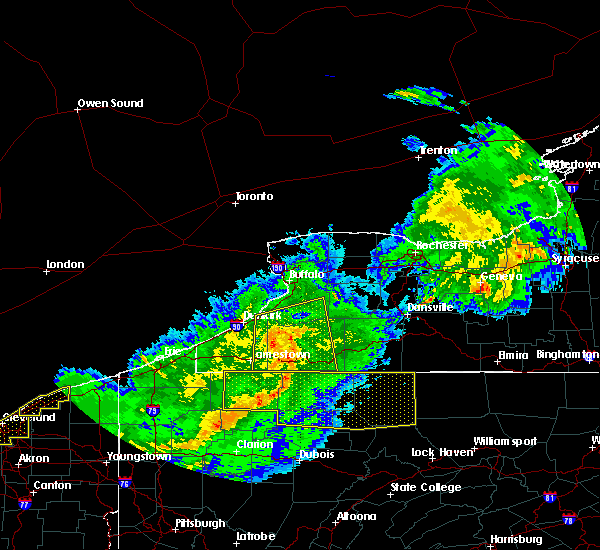 Radar Image for Severe Thunderstorms near Houghton, NY at 6/23/2015 6:05 AM EDT