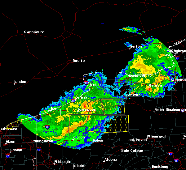 Radar Image for Severe Thunderstorms near Little Valley, NY at 6/23/2015 6:07 AM EDT