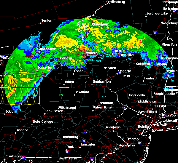 Radar Image for Severe Thunderstorms near Addison, NY at 6/23/2015 6:13 AM EDT