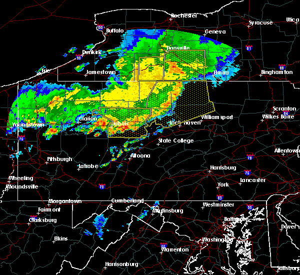 Radar Image for Severe Thunderstorms near Grassflat, PA at 6/23/2015 7:02 AM EDT