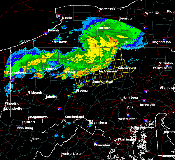 Radar Image for Severe Thunderstorms near Salladasburg, PA at 6/23/2015 7:22 AM EDT
